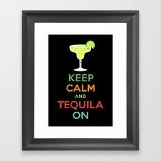 Keep Calm Tequila - black Framed Art Print
