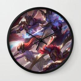 SKT T1 Jhin Syndra Ekko Zac Nami Olaf Splash Art Wall Clock