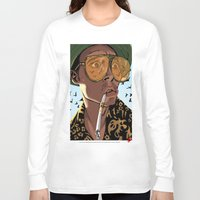 fear and loathing Long Sleeve T-shirts featuring DEPP: Fear and Loathing in Bat Country by ThatJokerGuy