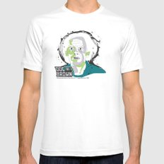 Doc Brown_INK - Back to the Future White Mens Fitted Tee SMALL