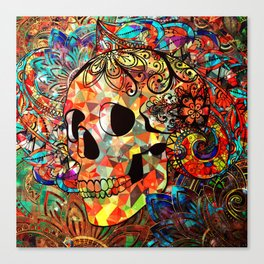 The Brighter side of Dark (skull) Canvas Print