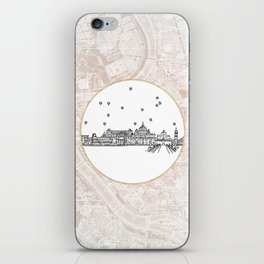 Roma (Rome), Italy, Europe City Skyline Illustration Drawing iPhone Skin