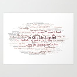 Books Everyone Should Read (Virgin-version) Art Print