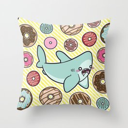 Drooling over Donuts Throw Pillow