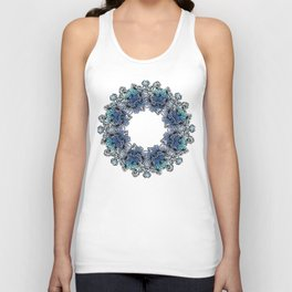 Indigo Bloom Portuguese Tiles – Gaia Unisex Tank Top