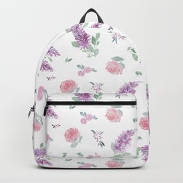 Daphne Floral Watercolor Backpack