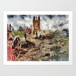 Destruction, World War One Art Print