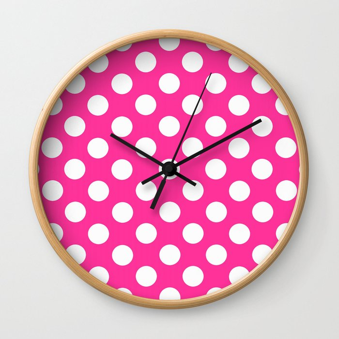 Lunares rosa Wall Clock