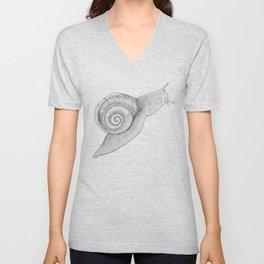 A Snail Of A Tale Unisex V-Neck