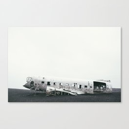 Abandoned Plane Iceland Canvas Print