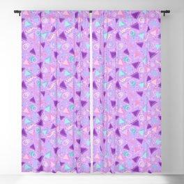 Purple Retro 90s Sprinkle Pattern  Blackout Curtain