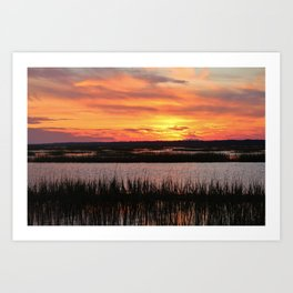 Sky Over The Marsh Art Print