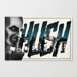 Hushed - White Variant Canvas Print