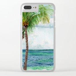 Peaceful Mexico Beach Clear iPhone Case