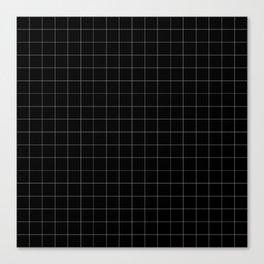 The Minimalist: Black and White Grid Canvas Print