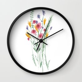 A Bunch of Flowers Wall Clock