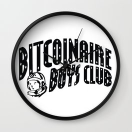 Bitcoinaire Boys Club Wall Clock