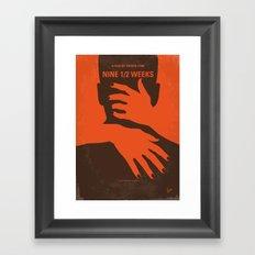 No305 My Nine half Weeks minimal movie poster Framed Art Print