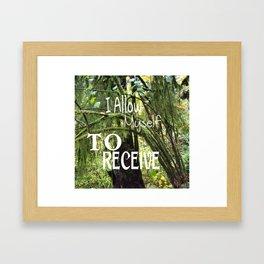 Receive Framed Art Print