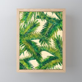 Palms #palm #palms #flower Framed Mini Art Print