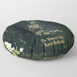 You are your own best weapon. The Winner's Kiss Floor Pillow