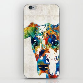 Colorful Great Dane Art Dog By Sharon Cummings iPhone Skin