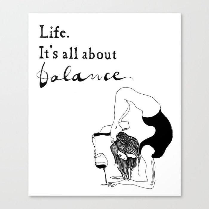 Funny Yoga Print Original Yoga Art Unique Yoga Gift Black And