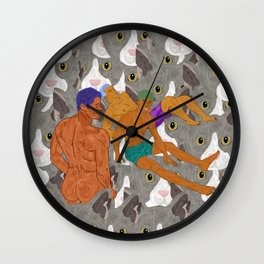 Bromos Love Pussies Wall Clock