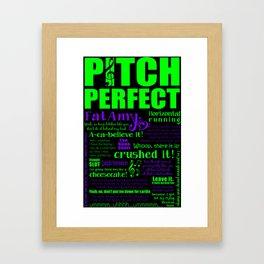 Pitch Perfect Fat Amy Rebel Wilson Framed Art Print