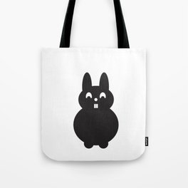 Graphic bunny b&w Tote Bag
