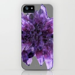 PURPLE AMETHYST QUARTZ CRYSTALS MINERAL SPECIMEN iPhone Case