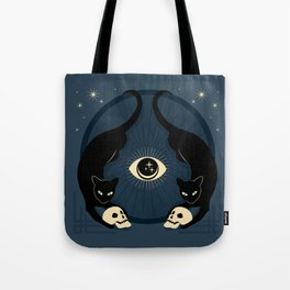Midnight Cats Doing Their Dark Business Tote Bag