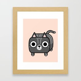 Cat Loaf - Grey Tabby Kitty Framed Art Print