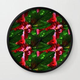Green leaf Wall Clock