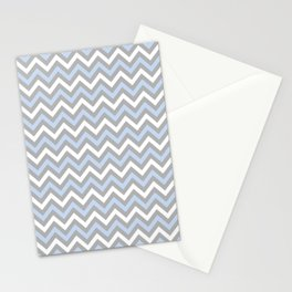 Chevron - light blue and grey Stationery Cards