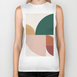 Abstract Geometric 11 Biker Tank