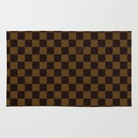 """lv Area & Throw Rugs featuring LV by """"CVogiatzi."""