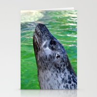 seal Stationery Cards featuring seal by  Agostino Lo Coco