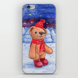 bear with sock cap iPhone Skin