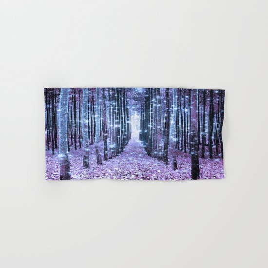 Magical Forest Lavender Ice Blue Periwinkle Hand & Bath Towel