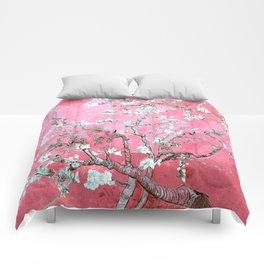 Van Gogh Almond Blossoms : Pink & Aqua Comforters