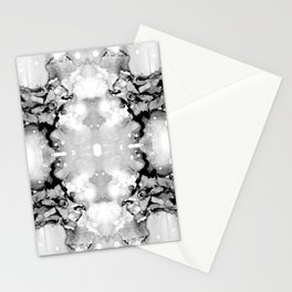 Design 94 abstract grayscale Stationery Cards