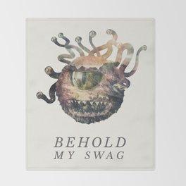 Beholder (Typography) Throw Blanket