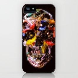 Hot Rod Skull Dark iPhone Case
