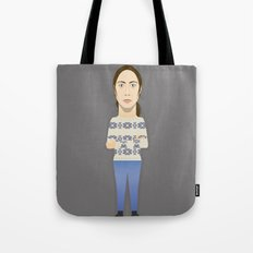 Watching The Detectives #1: Portrait Tote Bag