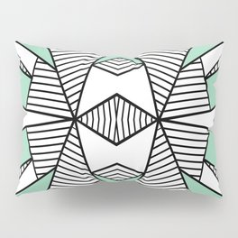 Triangle Tribal Mint Pillow Sham