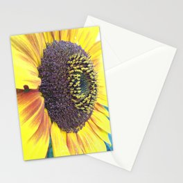 Close up with a Sunflower Stationery Cards