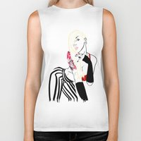 celebrity Biker Tanks featuring Celebrity by Nunyah Bidness