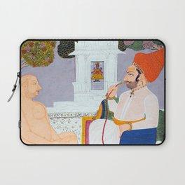 Baba Atmaram - holy man at a Vishnu Shrine - Vintage Indian print Laptop Sleeve