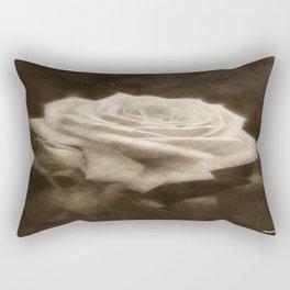 Pink Roses in Anzures 3 Antiqued Rectangular Pillow